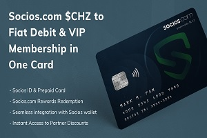 Socios Announces Prepaid Fiat-Crypto Card