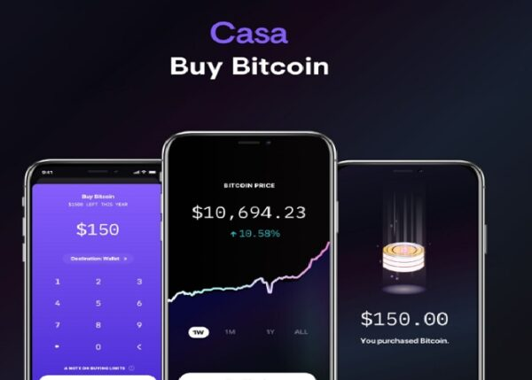 Casa announces bitcoin buying option via its mobile app